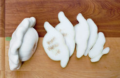 Sliced Pattypan Squash Royalty Free Stock Images
