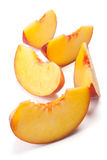 Sliced peach Royalty Free Stock Image