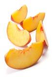 Sliced peach Royalty Free Stock Image