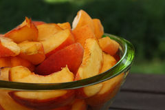 Sliced peaches Royalty Free Stock Image