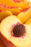 Sliced peaches Royalty Free Stock Images