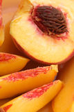 Sliced peaches royalty free stock photo
