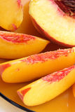 Sliced peaches Royalty Free Stock Photo