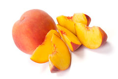 Sliced peaches Royalty Free Stock Photos