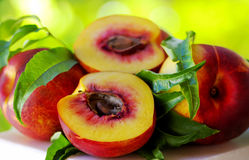 Sliced peachs Royalty Free Stock Photography