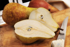 Sliced pear Royalty Free Stock Photos