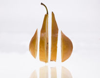 Sliced pear Royalty Free Stock Images