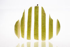 Sliced pear Stock Photography