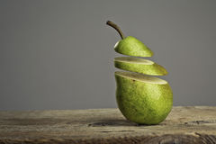 Sliced Pears Royalty Free Stock Photography