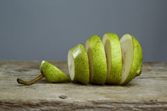 Sliced Pears Royalty Free Stock Photos