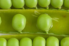 Sliced peas pod Royalty Free Stock Photography