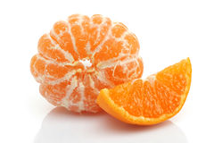 Sliced and peeled Tangerine Royalty Free Stock Images