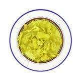 Sliced peperoncini on plate Stock Photography