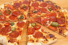 Sliced Pepperoni Pizza Royalty Free Stock Photography