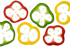 Sliced peppers Stock Photo