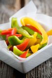Sliced peppers Stock Image