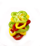 Sliced peppers Royalty Free Stock Photography