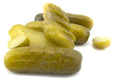 Sliced Pickles Stock Photos