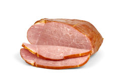 Sliced piece of ham Royalty Free Stock Photo