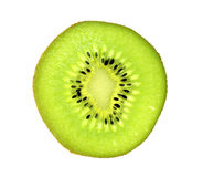 Sliced pieces of kiwifruit royalty free stock images