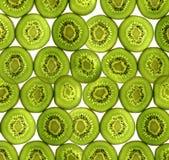 Sliced pieces of kiwifruit Stock Photo