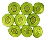 Sliced pieces of kiwifruit Stock Image