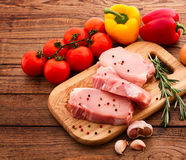 Sliced pieces of raw Meat for barbecue Royalty Free Stock Photography