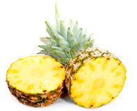 Sliced Pineapple. Pineapple isolated on white background Royalty Free Stock Image