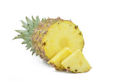 Sliced pineapple. Royalty Free Stock Images