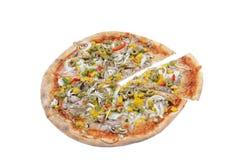 Sliced pizza royalty free stock photos