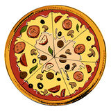 Sliced pizza icon Royalty Free Stock Image