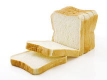 Sliced plain bread Stock Images