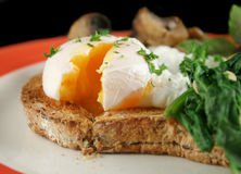 Sliced Poached Egg Royalty Free Stock Photography