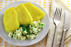 Sliced polenta with cheese Royalty Free Stock Photo