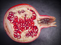 Sliced Pomegranate Stock Photos
