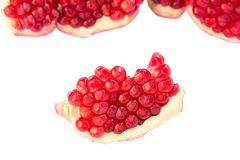 Sliced ​​pomegranate Royalty Free Stock Image