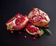 Sliced pomegranate fruit Royalty Free Stock Photos
