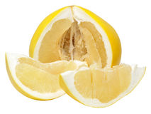 Sliced pomelo Stock Photography