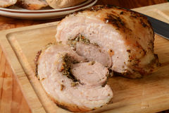 Sliced porchetta pork roast Royalty Free Stock Photography