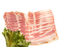 Sliced pork bacon Royalty Free Stock Photo