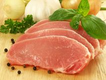 Sliced pork, close-up Stock Photography