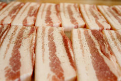 Sliced pork Stock Photography
