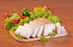 Sliced pork fat Stock Image