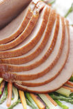Sliced pork ham Stock Image