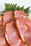 Sliced pork or ham Royalty Free Stock Image