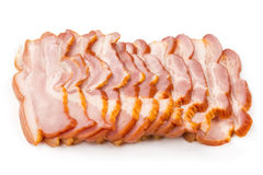 Sliced ​​pork ham bacon Stock Photo