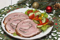 Sliced pork ham Stock Photos