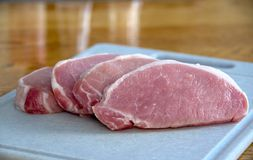 Sliced pork loin chops Royalty Free Stock Photo