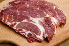 Sliced pork meat Royalty Free Stock Image
