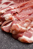 Sliced pork meat Royalty Free Stock Photography